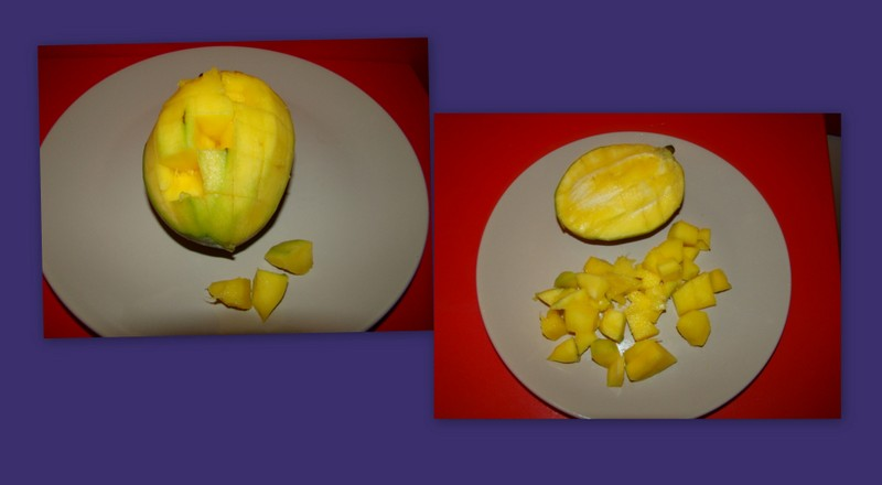 Cuburi de mango