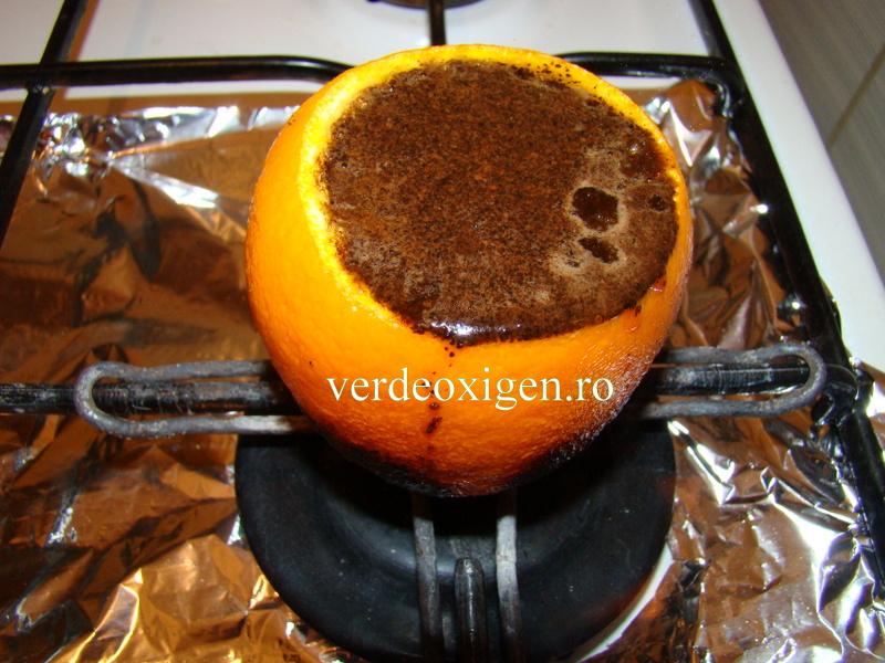 cafea in ibric din portocala
