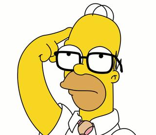 Homer se concentreaza