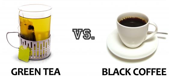 ceai verde vs.cafea