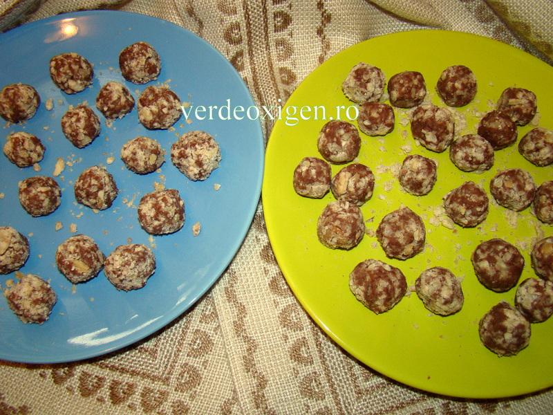 bilute din castane cu crema de ciocolata
