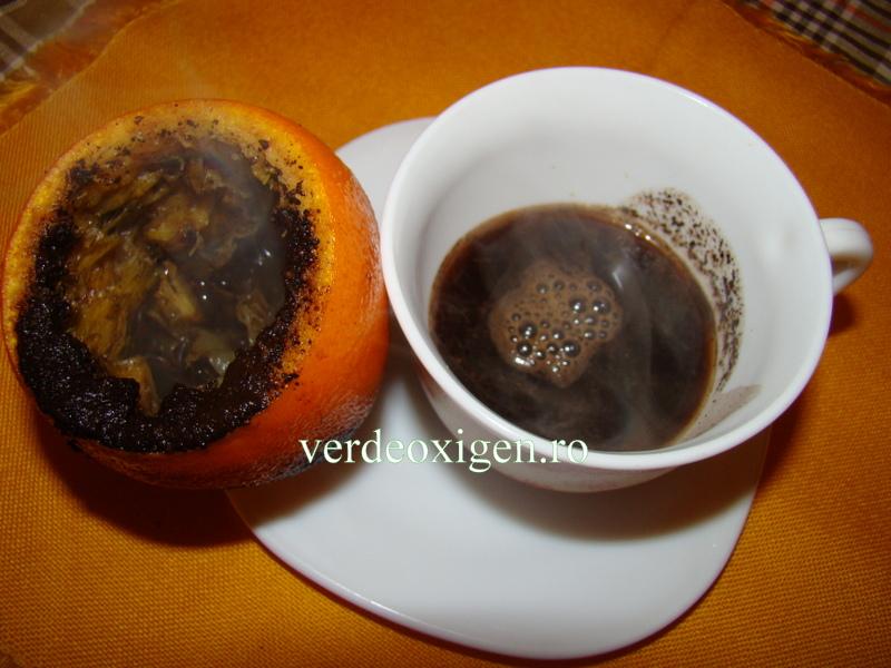 cafea fiarta in portocala