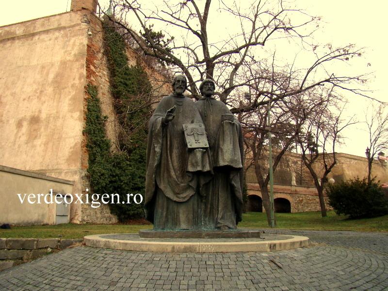 Statui, la castelul Nitra